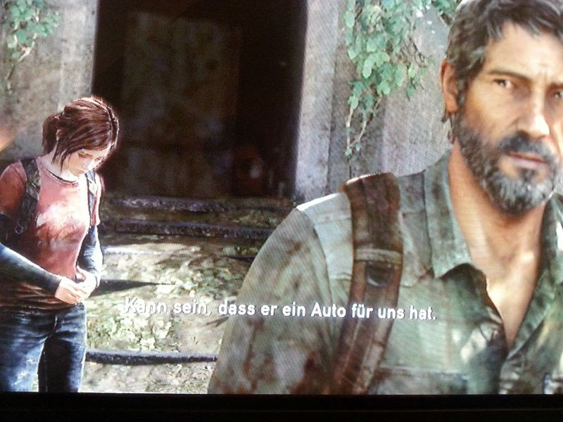 Unterhaltung zwischen Ellie und Joel