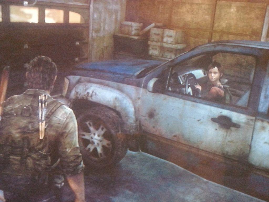 Ellie im Wagen