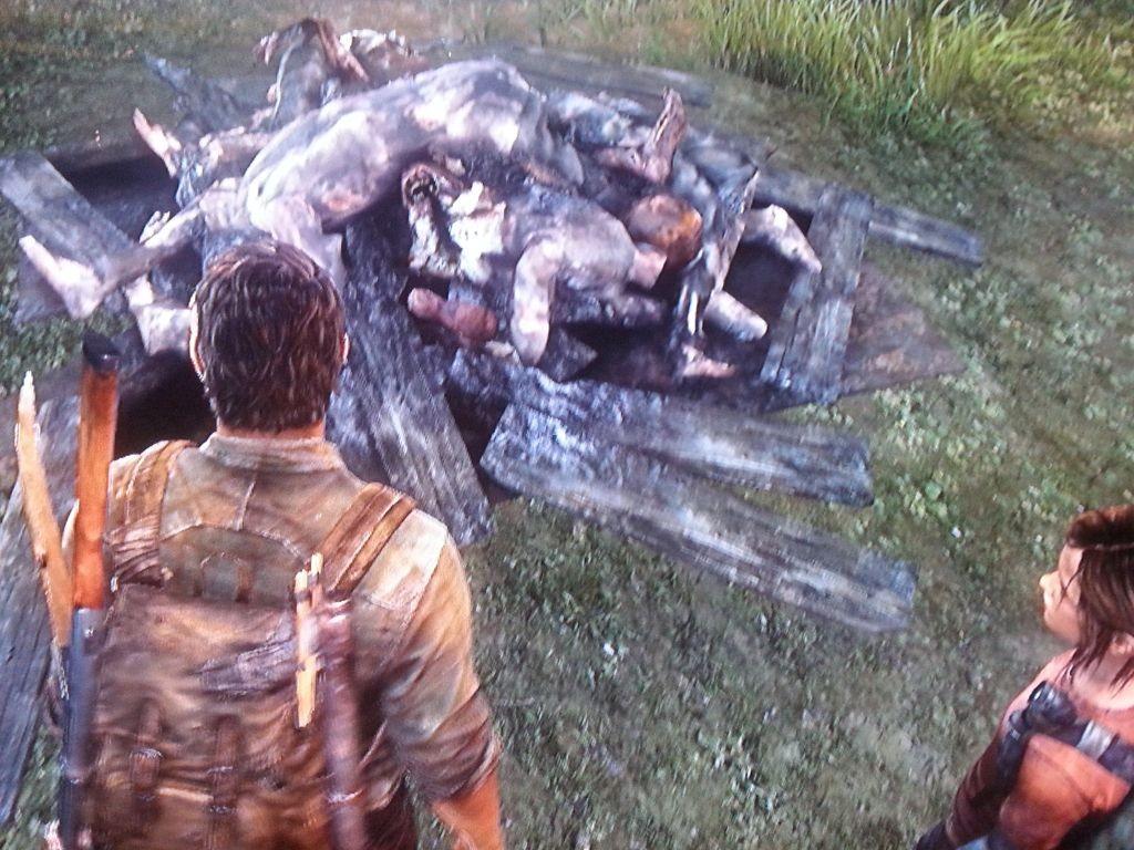 Verbrannte Leichen bei der Kirche