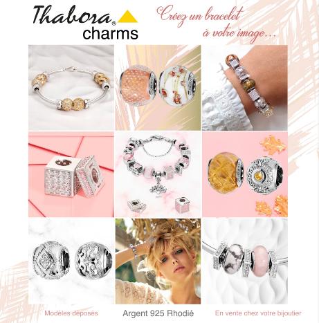 Catalogue charms argent Thabora - Bijouterie L'Or Ne Ment - Beaurepaire - Les Herbiers Montaigu