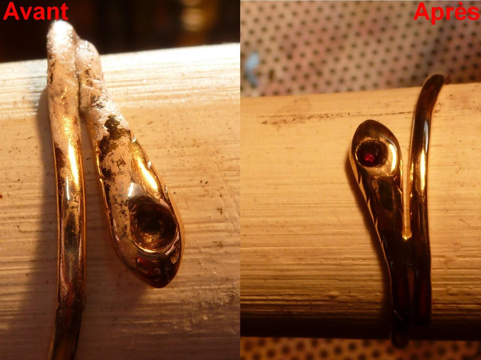 Bague Or jaune 750°/°° - Soudure tête de bague et sertissage