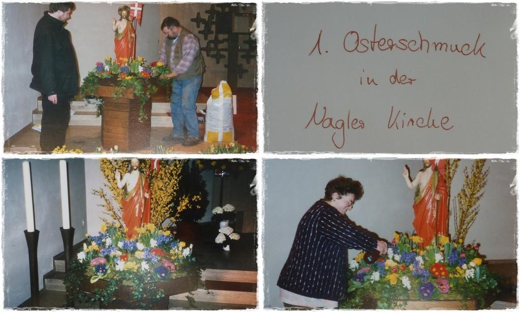 1996 -Erster Osterschmuck in der Nagler Kirche