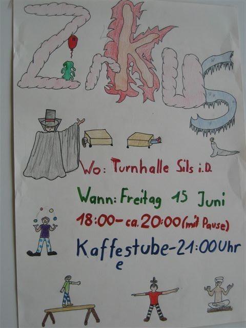 Plakat von DM, DG u. GC