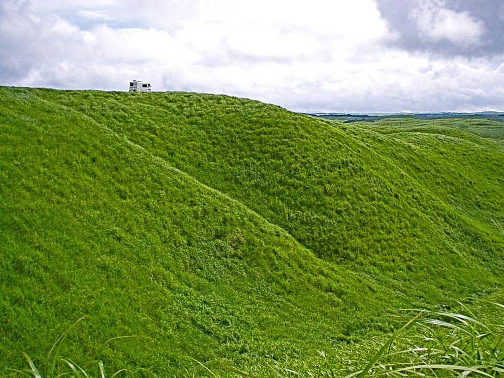 阿蘇外輪山の草原