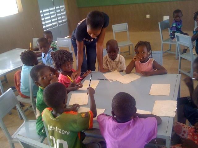 Les enfants en classe