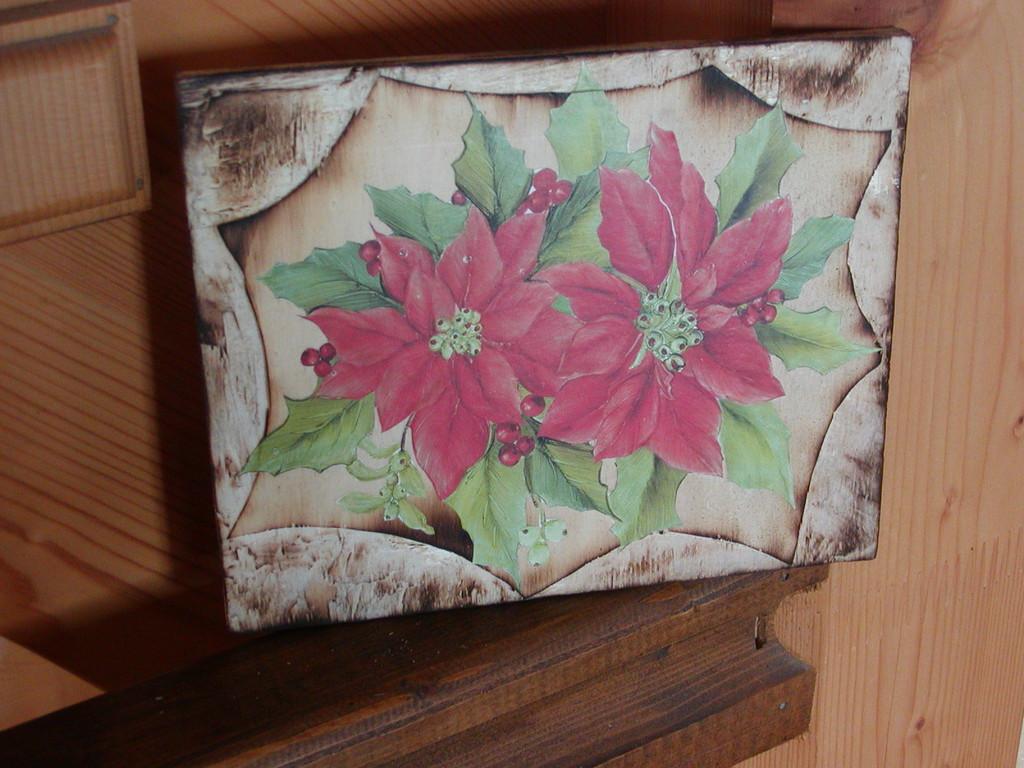 tavola bruciata fiore