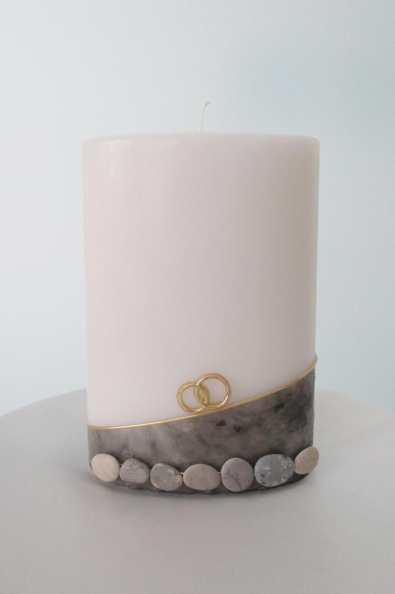 Hochzeitskerze Steine