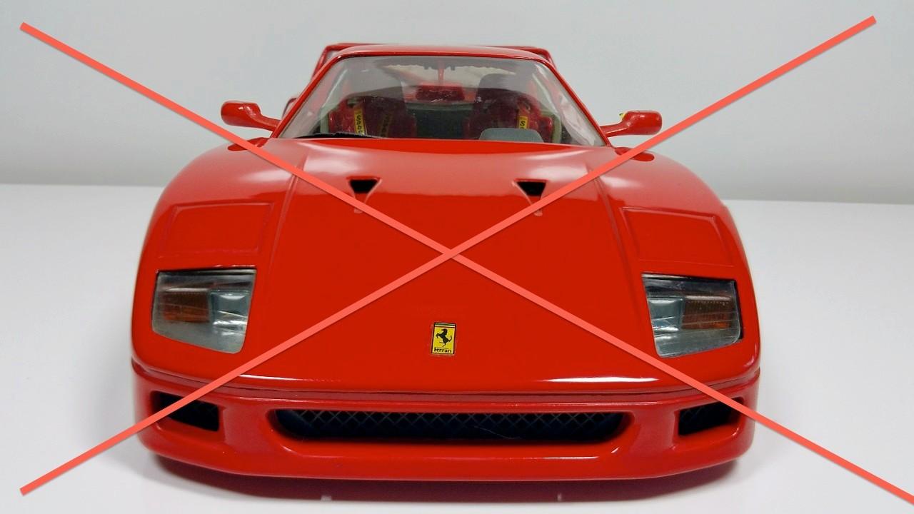 Der Ferrari wurde schon abgeholt ....