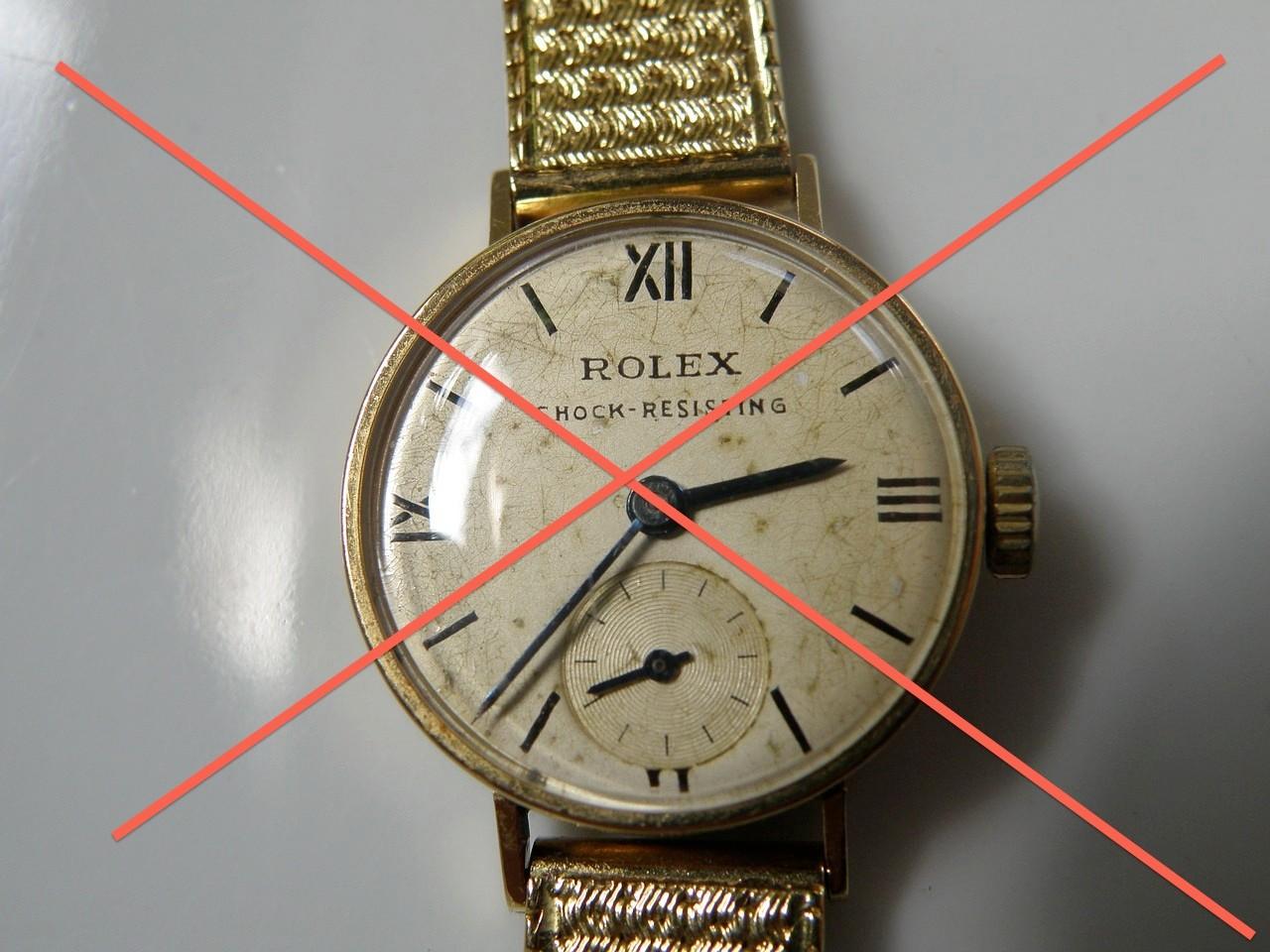 Die Rolex wurde schon abgeholt ....