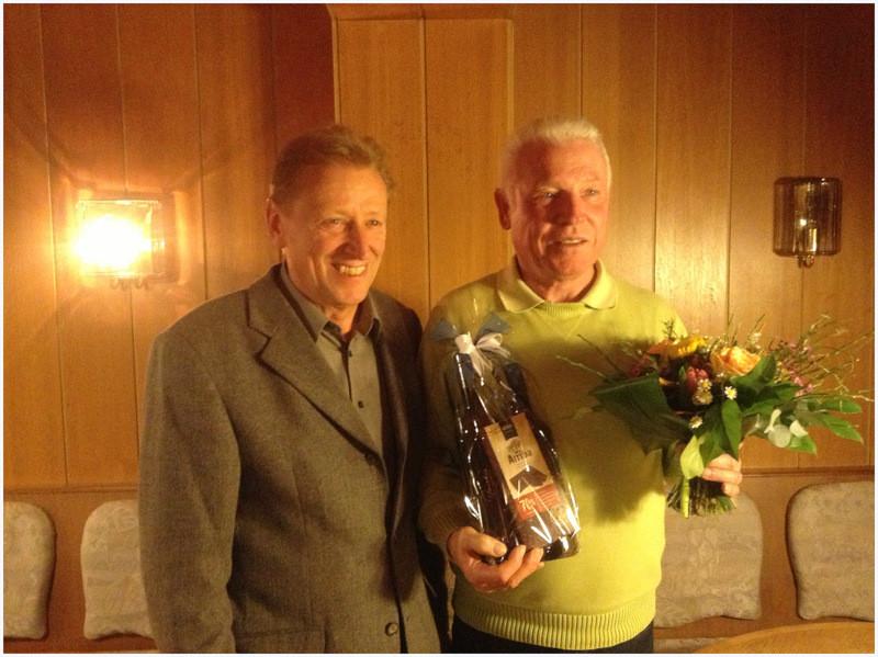 1. Vorsitzender Erwin Grieb und Gerd Schulte (Ehrenmitglied)