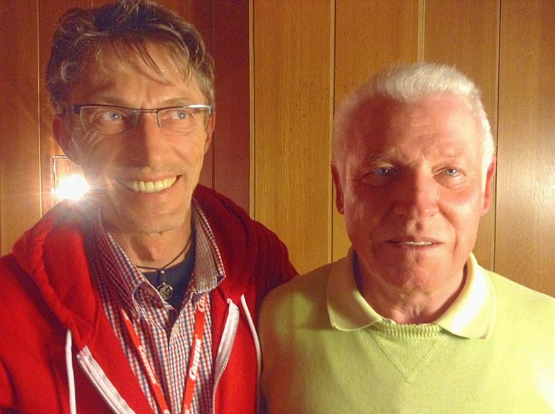 von links Uwe Dunker (Nachfolger) und Gerd Schulte (Ehrenmitglied)