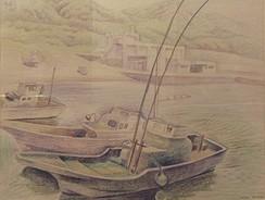 港 色鉛筆