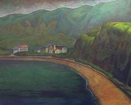 若郷遠景 キャンバスに油彩 162*130cm