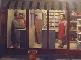 森山酒店の人々 キャンバスに油彩 146*112cm