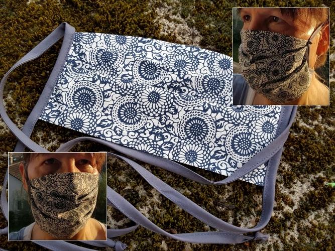 Gesichtsmasken - Behelfsmasken  aus 55% Hanf 45% Organic Cotton
