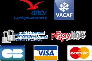 Agréé ANCV, VACAF, paiement CB sécurisé