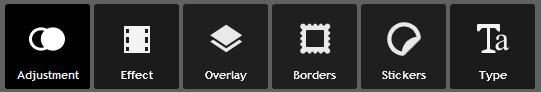 opciones automáticas de edición en Pixlr.