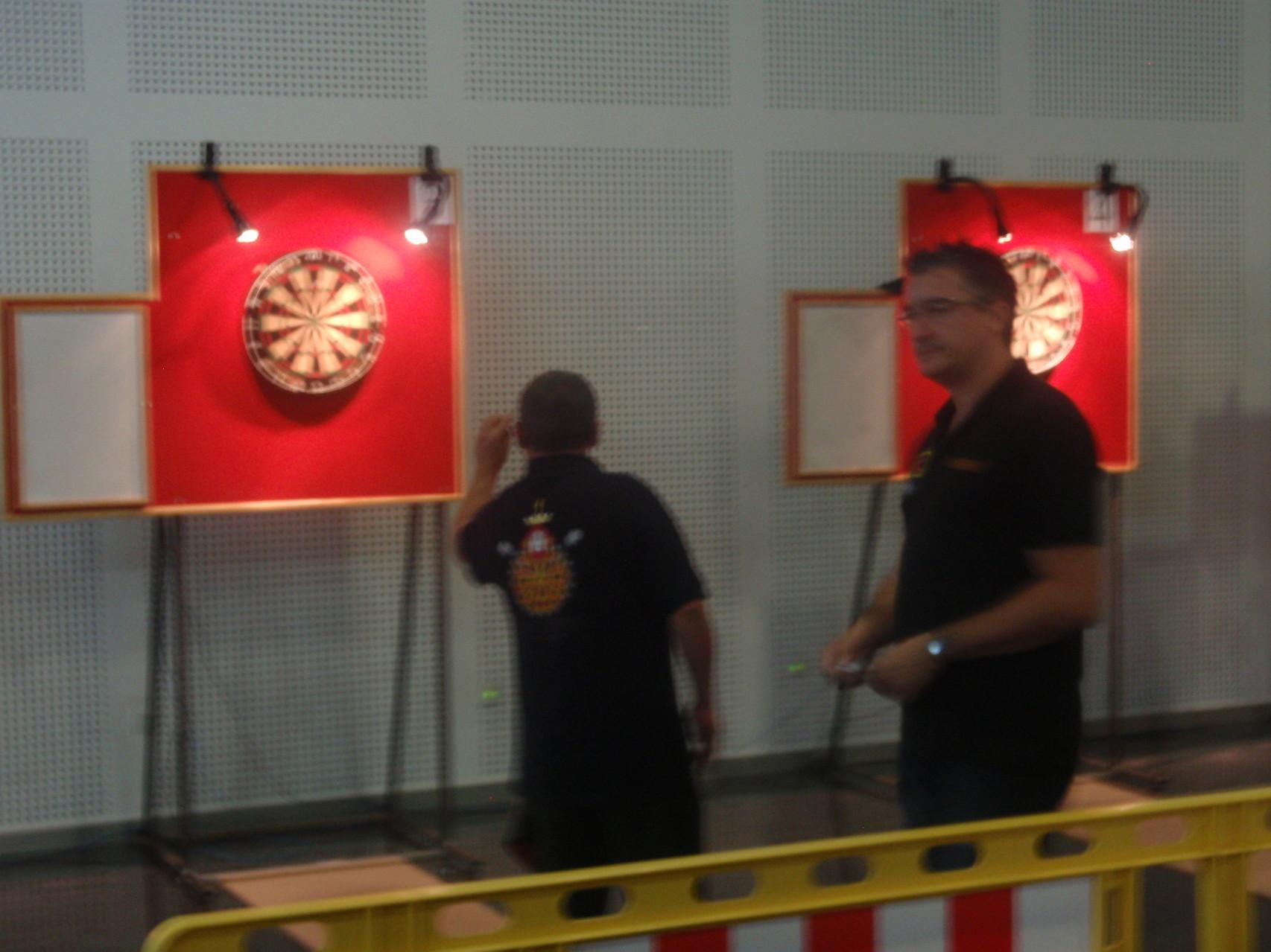 Robles jugando la final contra Barbero