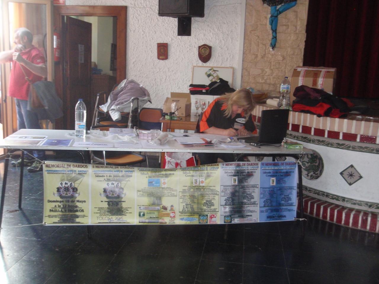 La mesa de la organización