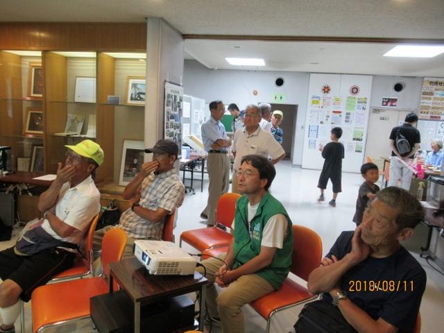 寒川の動植物のプロジェクタ投影 大人の勉強会