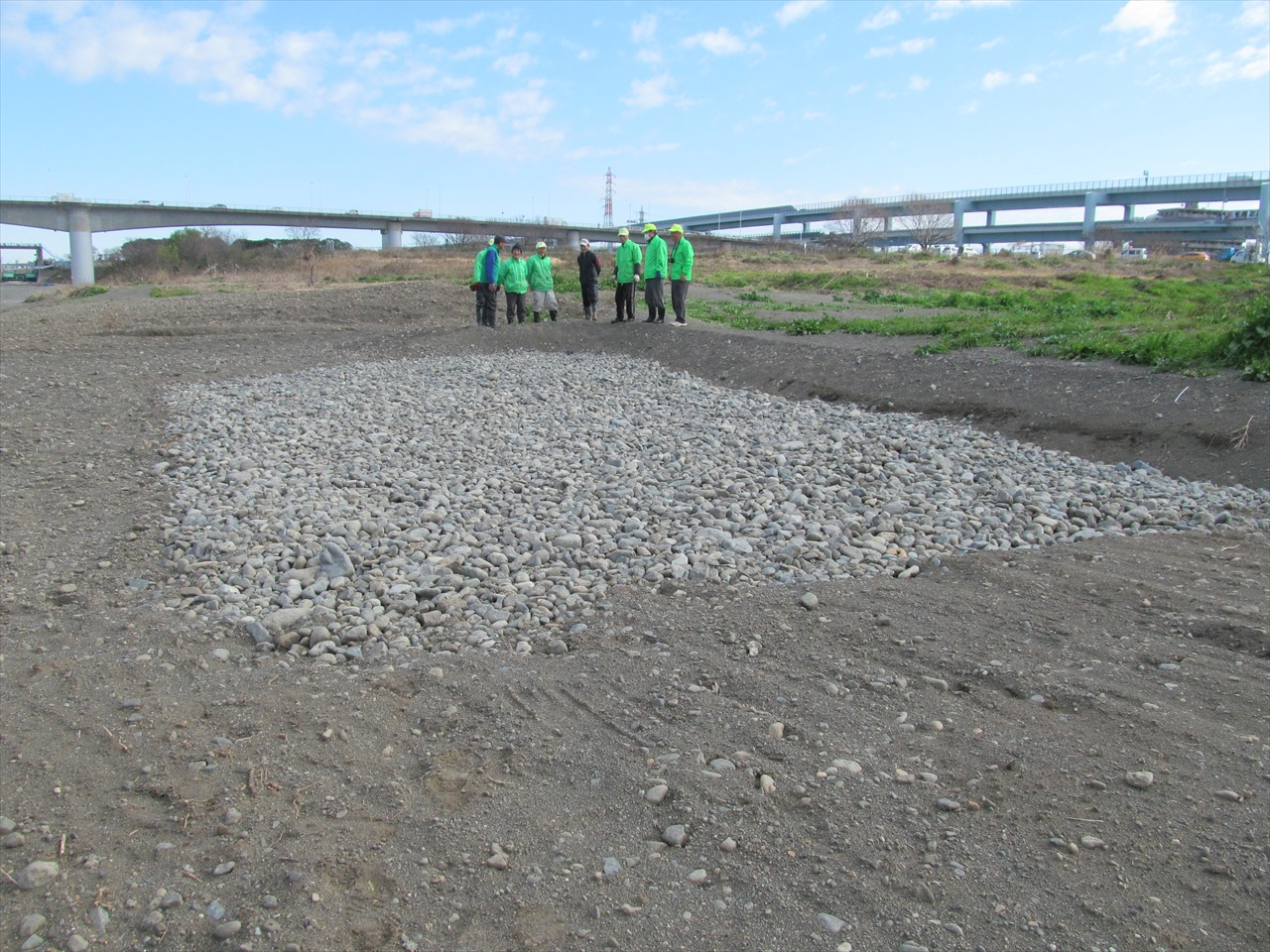 河川敷の新圃場