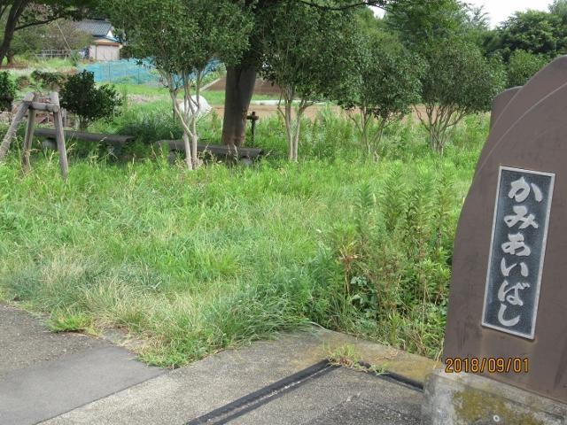 草刈前の上合橋右岸小公園