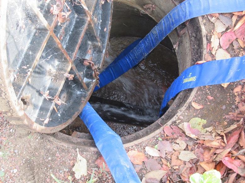 ポンプによる排水