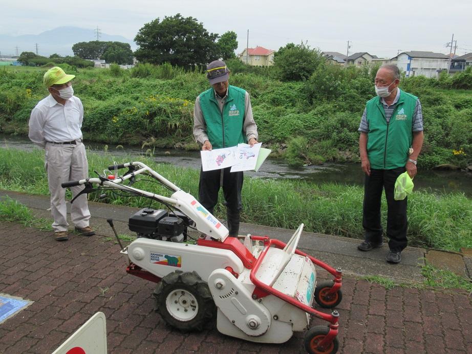 自動草刈り機の操作講習