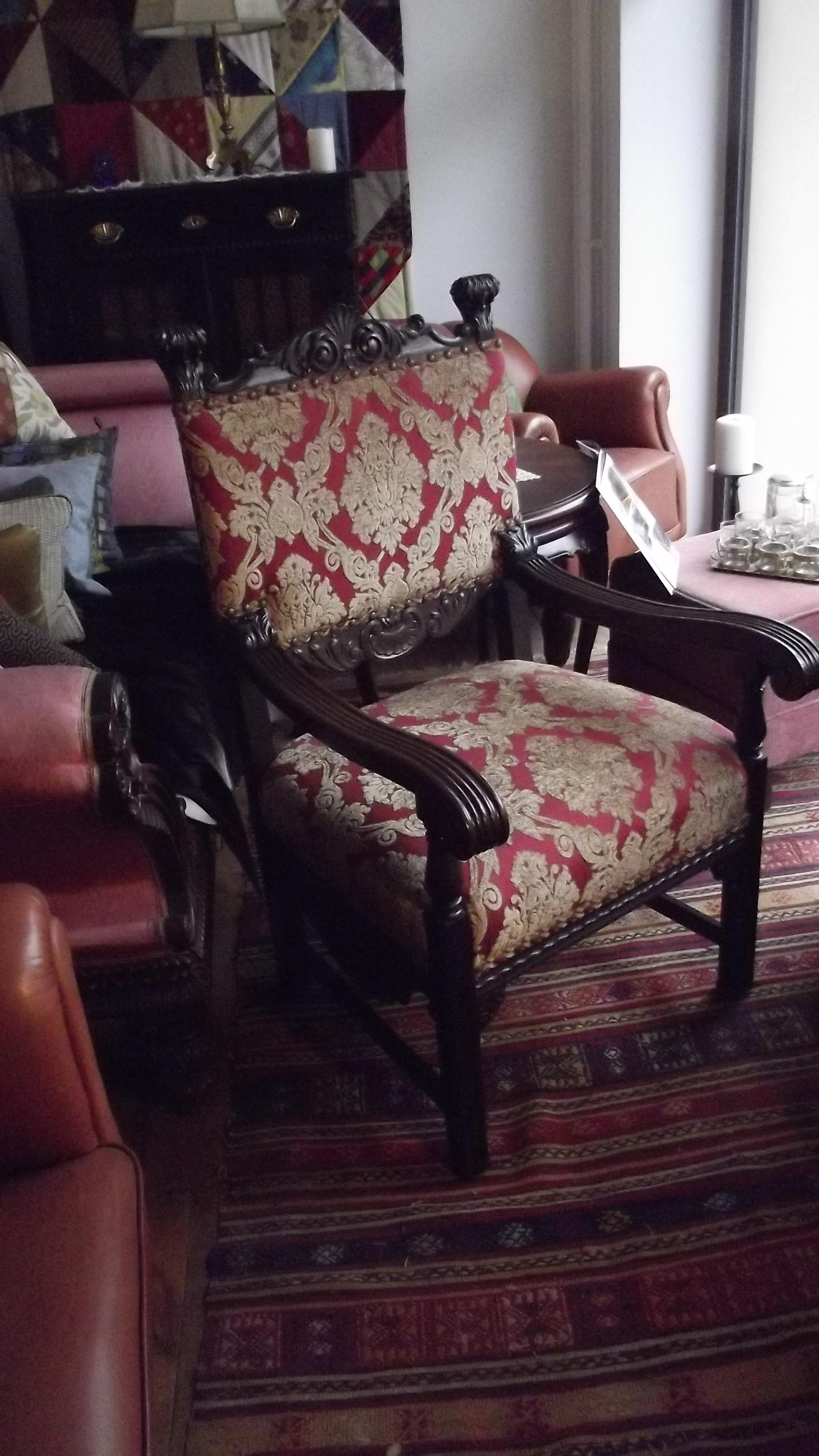 Klappliege-Sofa mit handgearbeitetem Patchwork Lederbezug
