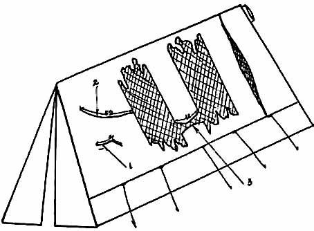схема повреждений палатки из материалов уголовного дела.