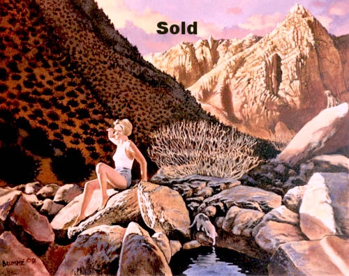 Susan in the Oasis/ Sold