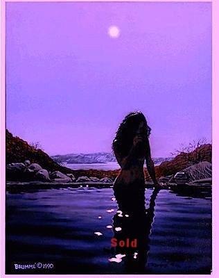 The Moon Goddess/Acrylic on Panel/ $4,000/ Sold