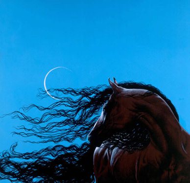 The Stallion and the Moon/ $3,000/ sold