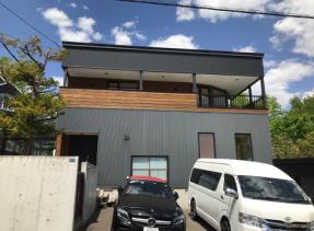 外壁ガルバリウム鋼板塗装 施工前