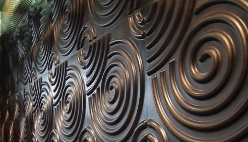 テナント内装 3D壁造作と塗装施工