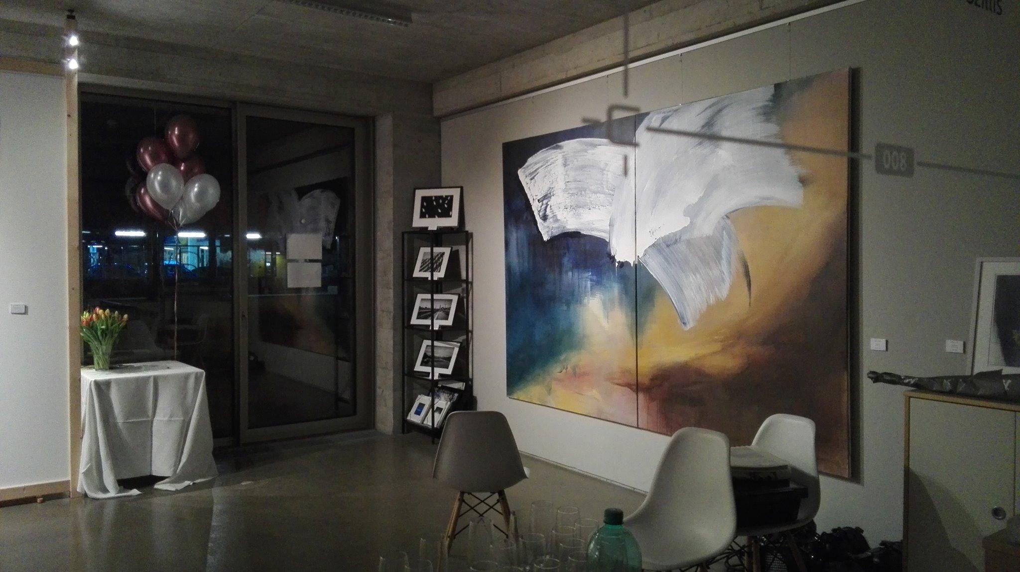 """Ausstellungsansicht """"Der gesteuerte Zufall"""", Galerie Art Priori Mannheim 2016"""