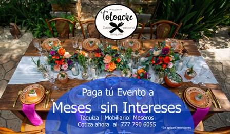 Paga tu evento o fiesta a meses sin intereses | Banquete | Mobiliario | meseros