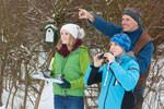 (c)NABU/Frank Hecker: Vogelbeobachtung im Winter