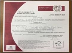FSC認証の証明書
