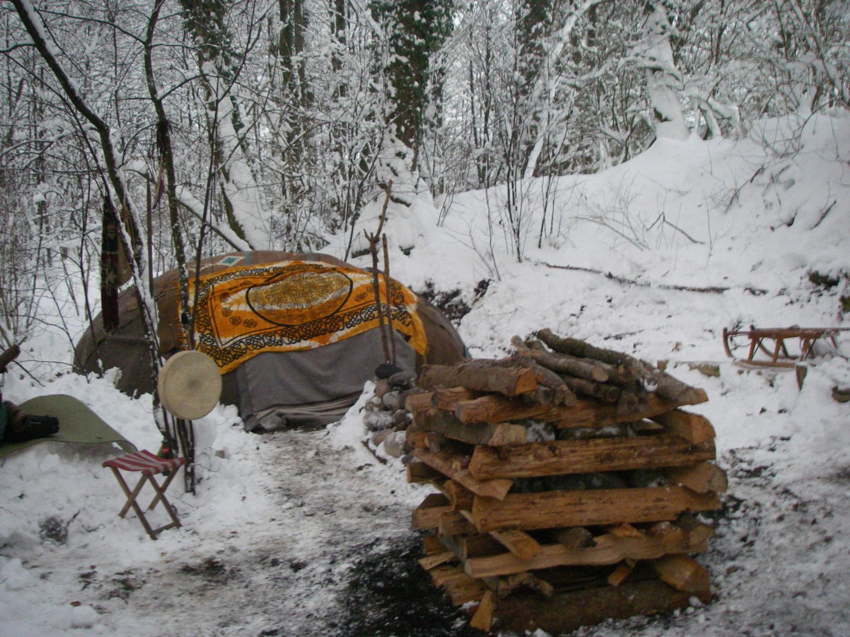 Winter-Schwitzhütte