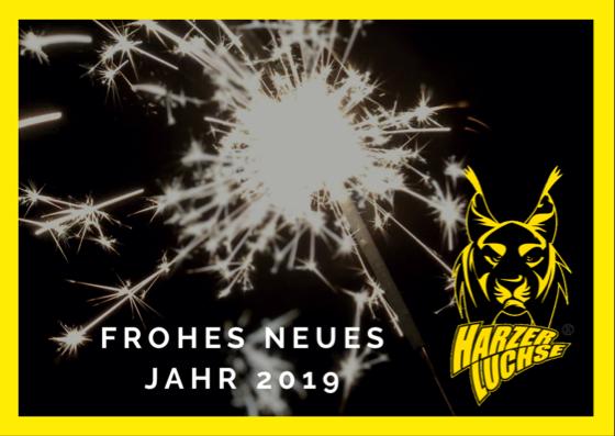 Neujahrsgruß Harzer Luchse