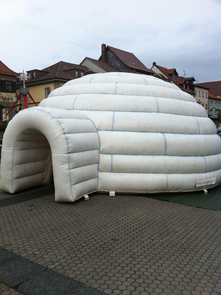 Riesen Iglu, Platzbedarf 10 Meter Durchmesser, 4 Meter hoch