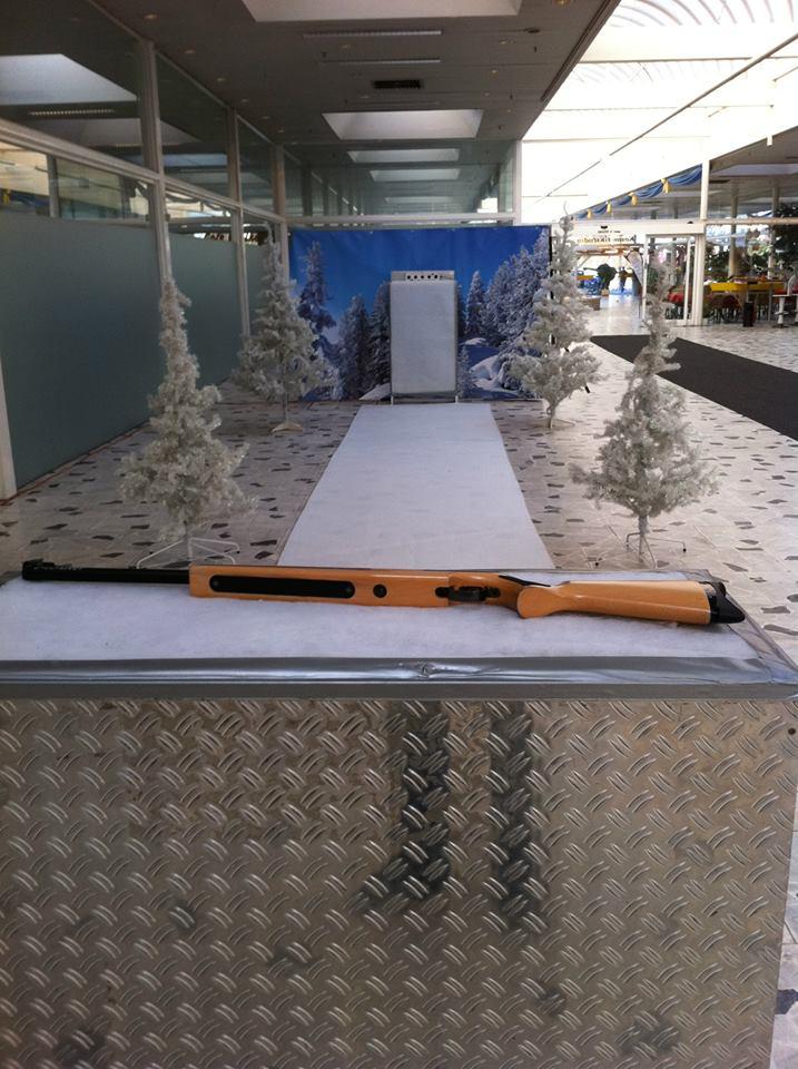 Biathlon Simulator, Platzbedarf 2x7x2 Meter