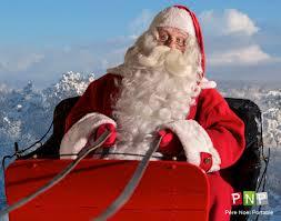 Père Noël dans son traîneau