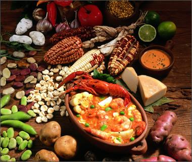 divers aliments péruviens