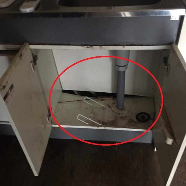 25年利用した台所の補修費用について