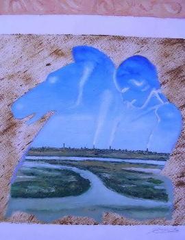 Odiel 48 x 60 Oleo sobre papel