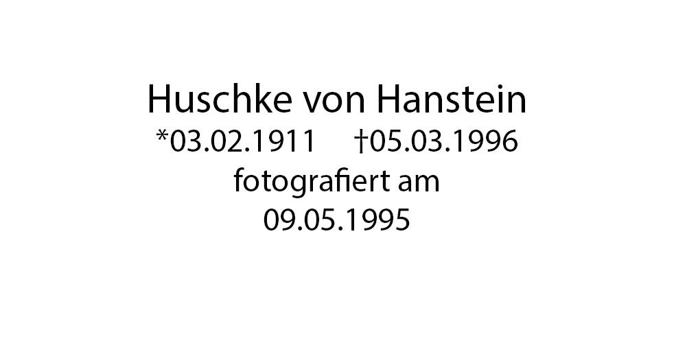 Huschke von Hanstein foto organico Picture Bild Krackhardt Christof Menschen des veröffentlichten Lebens Geburt Birth Datum