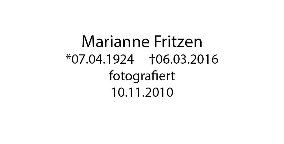 Marianne Fritzen foto organico Picture Bild Krackhardt Christof Menschen des veröffentlichten Lebens Geburt Birth Datum