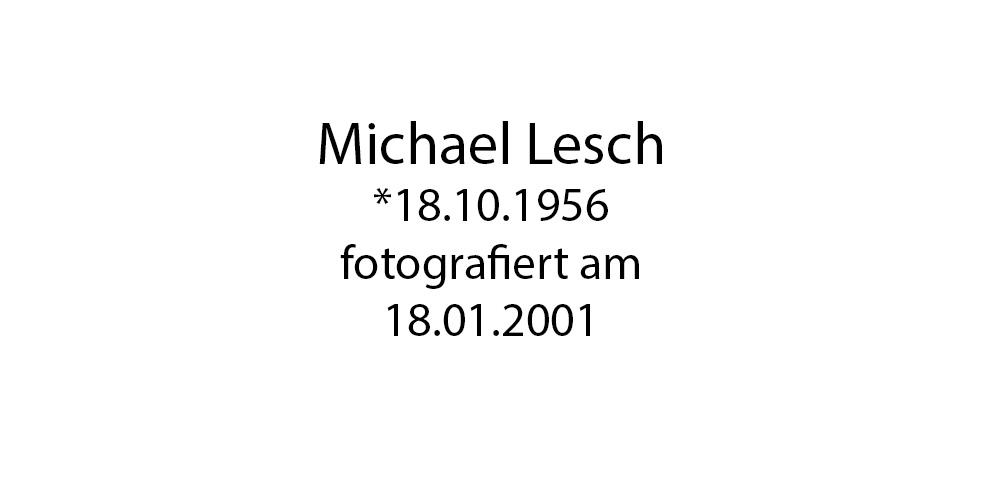 Michael Lesch Portrait foto organico Picture Bild Krackhardt Christof Menschen des veröffentlichten Lebens Geburt Birth Datum